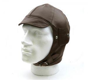 Brooklands Leather Motor Racing Helmet - Brown Leather