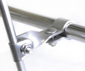 Halcyon 967 Scooter Bar Clamp Bracket Twisted