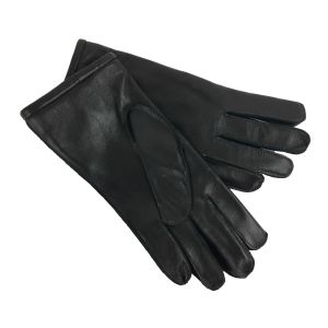 Brooklands Racing Short Cuff Gloves - Black Leather