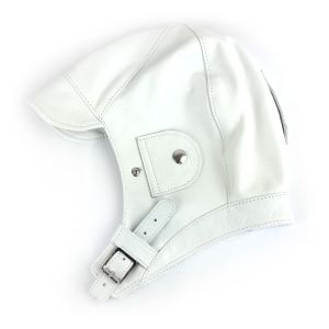 Brooklands Racing Hat - White Leather