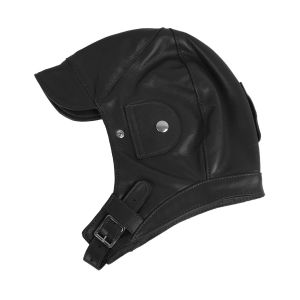 Brooklands Racing Hat - Black Leather