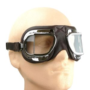 Halcyon Mark 3304 Folding Goggles - Brown Leather