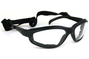 Chopper Slim-line Black Goggles - Clear Lens