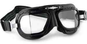 Compact Racing Goggles - Black Leather