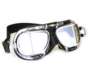 Compact Goggles - Black with Chamois Leather