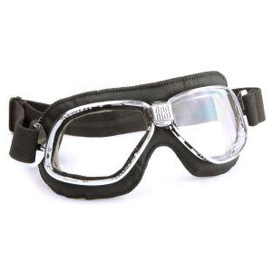 Nannini Cruiser Motorcycle Chrome Black Goggles