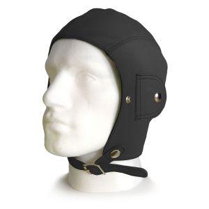 Retro Black Leather Helmet