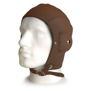 Retro Brown Leather Helmet