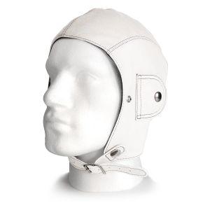 Retro White Leather Helmet