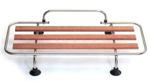 Classic Car Luggage Rack - Stainless Steel with Wood Slats