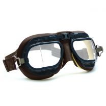Halcyon Mark 8 RAF Battle of Britain Brown Aviator Goggles