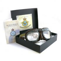 Halcyon WW2 RAF Coastal Command Leather Replica Goggles
