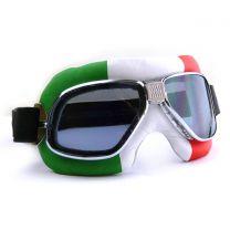 Nannini Cruiser Motorcycle Goggles with Italian Flag Design