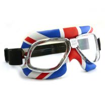 Nannini Cruiser Motorcycle Goggles with Union Jack Design