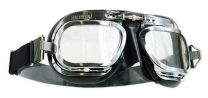 Halcyon Mark 10 Deluxe Black Motorcycle and Aviator Goggles