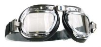 Mark 46 Aviation/ Motorcycle Black Goggles For Open Faced Helmets