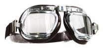 Halcyon Mark 46 Brown Leather Motorcycle and Aviator Goggles