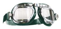 Halcyon Mark 46 Green Leather Motorcycle and Aviator Goggles
