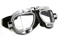 Halcyon Mark 8 Deluxe Black Motorcycle and Aviator Goggles