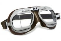 Halcyon Mark 8 Service Brown Motorcycle and Aviator Goggles