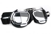 Halcyon Mark 9 Deluxe Black Motorcycle and Aviator Goggles