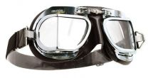 Halcyon Mark 9 Deluxe Brown Motorcycle and Aviator Goggles