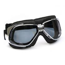 Nannini Rider Motorcycle Goggles - Black Leather