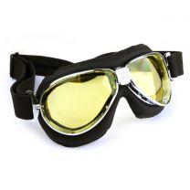 Nannini Motorcycle Black Italian Motorcycle Goggles