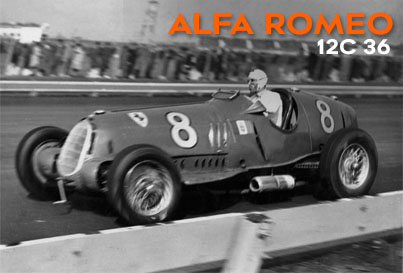 Alfa Romeo 12C 36 Type Motor Car