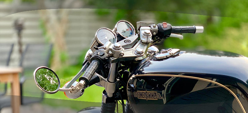 Bar End Mirrors for Classic Motorcycles